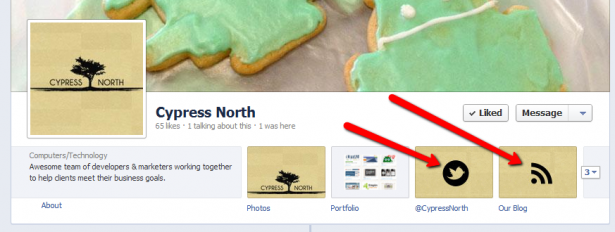 how to add a custom tab on facebook page