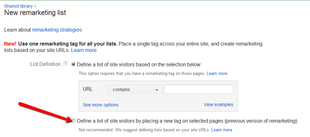 how to get remarketing code from adwords