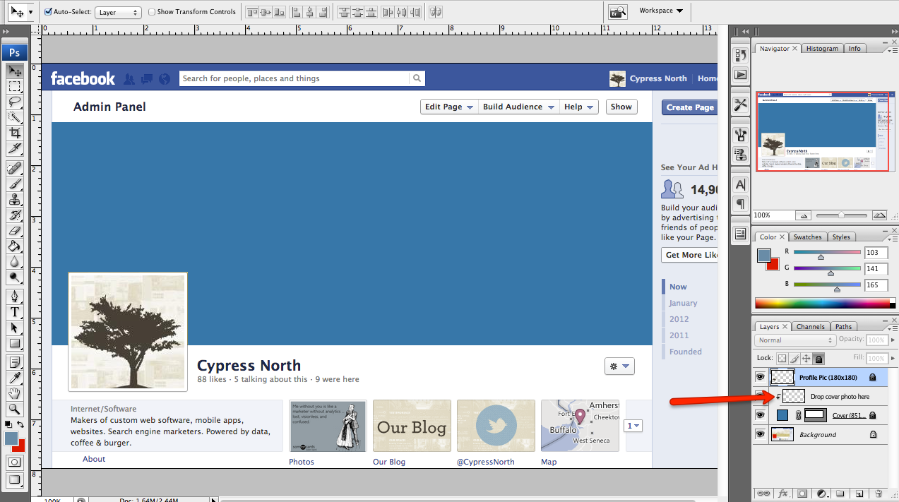 Facebook Cover Template - Facebook ad size template